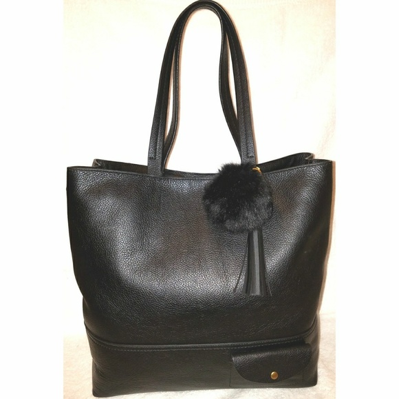 ada429845b J.Crew Handbags - Extra large black leather tote handbag